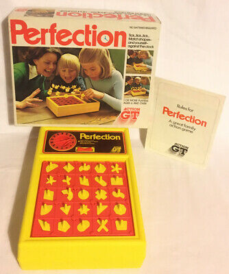 Perfection Board Game 1980 Action GT Vintage 100% Complete Working • 34.99£