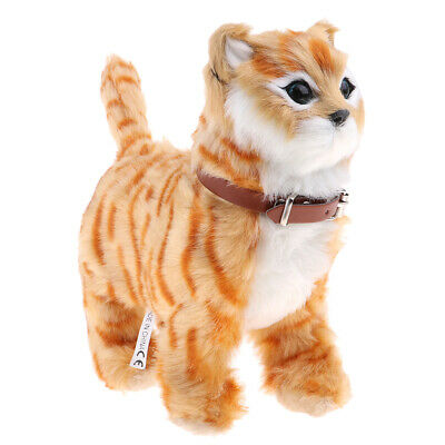 Walking Meow Electronic Cat Child Plush Soft Toy Stuffed Toys For Children • 11.38£