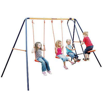 Hedstrom Children's Double Swing & Glider Kids Outdoor Garden Multi Play Set • 149.95£
