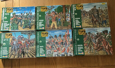 Revell 1/72 - Lot Serie Green Box Toy Soldiers  - Vintage  • 12£