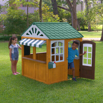 Kidkraft Garden View Outdoor Playhouse | Kids Wooden Play House Mailbox Phone • 339£