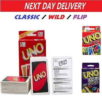 UNO Card Game Classic / Wild / Flip Great Family Fun Party Playing Cards • 3.99£