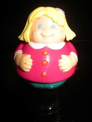 Rare Vintage Weeble Figure GIRL IN RED DRESS • 14.99£