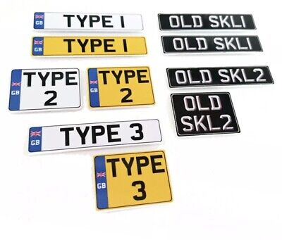 1/10 Scale Number Plates. EB.0115 • 7£
