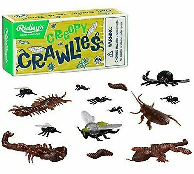 RIDLEYS Creepy Crawlies Kids Toy Bugs Gift Novelty Plastic Insects Retro Boxed • 4.99£