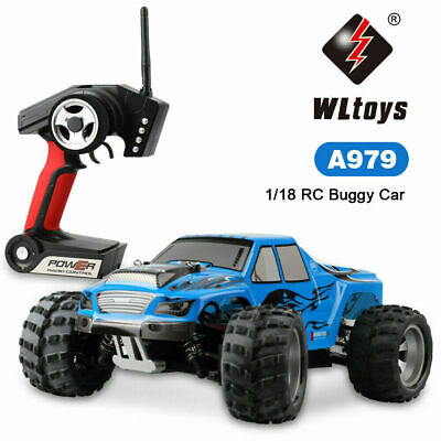 WLtoys A979 4WD 1/18 50KM/H RC Cars Electric RTR Buggy High Speed Monster Truck • 49.99£