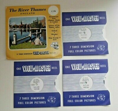 THE RIVER THAMES VIEWMASTER REELS SET C276 ORIGINAL 1950's RARE COMPLETE   H137 • 19.95£