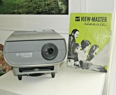 VINTAGE GAF VIEWMASTER CLASSIC PROJECTOR 1960's RARE WORKING & INSTRUCTIONS H053 • 34.95£