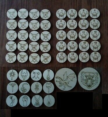 DnD Monster Tokens D&D Dungeons And Dragons, Wood, Warhammer, E5, DM Dice Game • 5.99£