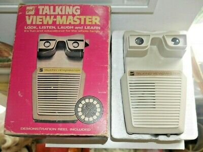 Gaf Talking Viewmaster Stereo Viewer 1973 Rare Boxed & Working  H174 • 65£