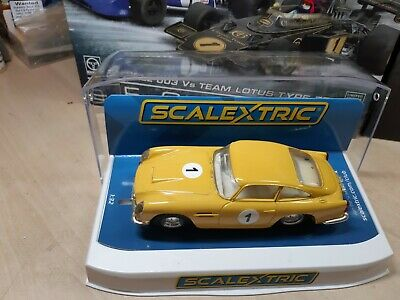 Scalextric C68  Aston Martin Db5 Recreation In  French Yellow  Fantastic!!! • 145£
