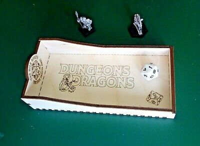 DnD Mini Dice Tray D&D Dungeons And Dragons, Name Added Free. E5, DM Dice Game • 6£