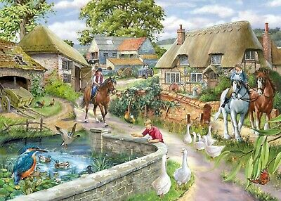 House Of Puzzles 1000 Piece Jigsaw Puzzle - Bridle Path - New & Sealed • 15.99£