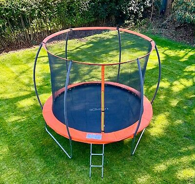 10FT Trampoline With Internal Safety Net Enclosure, Ladder And Rain Cover  • 219.99£
