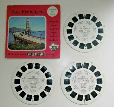 San Francisco 1955 Viewmaster Reels Set 198 Abc Rare  H251 • 16.95£