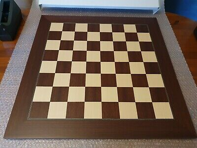 23.6 Inch Montgoy Palisander And Maple Deluxe Chess Board (damaged) • 42.99£