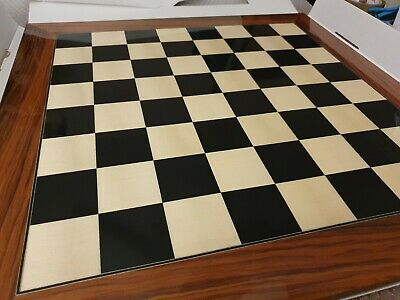 23.6 Inch Black Anegre And Palisander Deluxe Chess Board (damaged Corners) • 69.99£