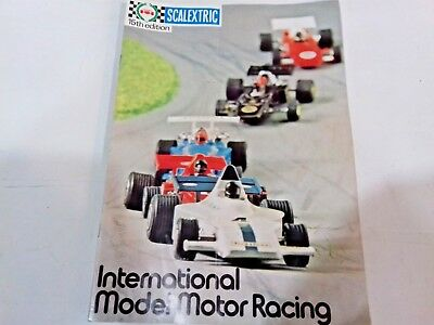 Scalextric Catalogue Magazine 15th Edition International Model Motor Racing 1974 • 9.99£