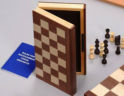 Deluxe Chess Set Folding Book Case High Quality David Westnedge • 48.50£