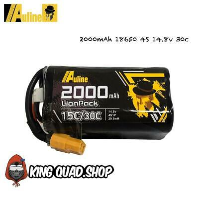 Auline 2000mAh 18650 4S 14.8v 30c For Cinewhoop, 5inch FPV & Wing Long Rang • 14.99£