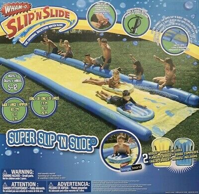 Supersized Slide 790cm With Inflatable Boards Wham 24 X 4ft Outdoor Water Slide • 131.95£