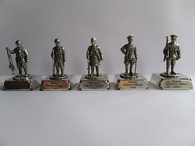 WW1 Pewter Set Of 5 British Army Miniatures, Great Quailty And Detail. • 14.95£