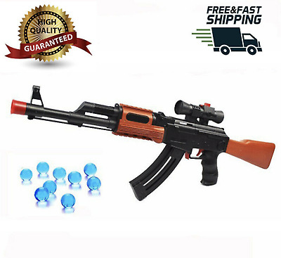 AK47 Kids Toy Water Blaster Gun DUAL MODE Water Pellets AND Soft Bullet Outdoor • 14.89£