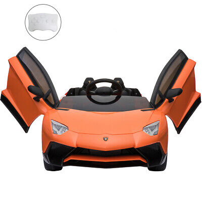 12V Lamborghini Kids Ride On Car Electric With Parental Remote(Orange) • 199.99£