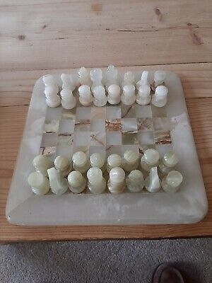 Onyx Chess Set Hand Crafted 8 Inch Board • 1.30£