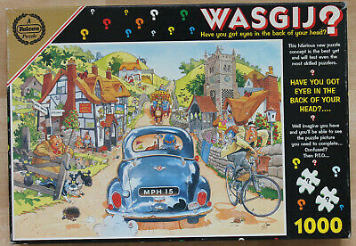 WASGIJ 'Sunday Drivers' 1000pc Vintage FALCON Jigsaw Puzzle. COMPLETE • 6.99£