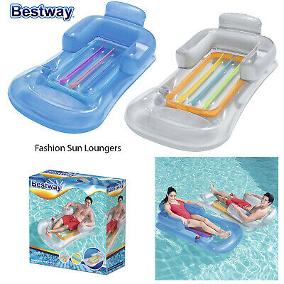 Bestway Inflatable Designer Fashion Air Mattress Lounger Pool Beach Lilo Float • 21.98£