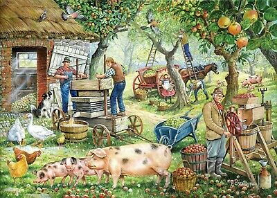 House Of Puzzles 1000 Piece Jigsaw Puzzle - Cider Makers - New & Sealed • 15.99£