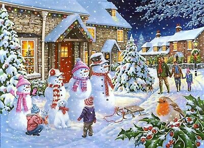 House Of Puzzles 1000 Piece Jigsaw Puzzle - Snow Family - New & Sealed • 15.99£