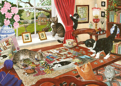 House Of Puzzles 1000 Piece Jigsaw Puzzle - Puzzling Paws - New & Sealed • 15.99£
