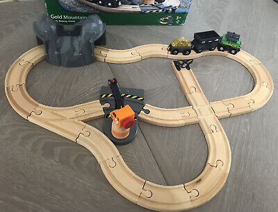 *EXTENDED* BRIO 33049 GOLD MOUNTAIN SET Wooden Train Fits Thomas & Friends • 29.90£