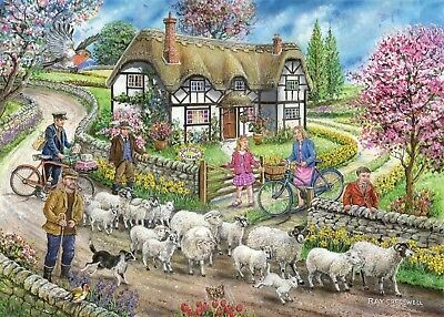 House Of Puzzles 1000 Piece Jigsaw Puzzle - Daffodil Cottage - New & Sealed • 15.99£