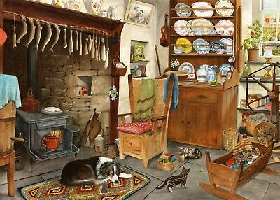 House Of Puzzles Big 500 Piece Jigsaw Puzzle - Fishermans Cottage - New & Sealed • 15.99£