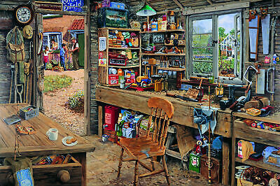 House Of Puzzles 1000 Piece Jigsaw Puzzle - Dad's Shed -  New & Sealed • 15.99£