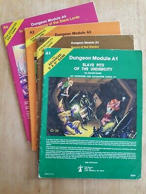 AD&D Complete Module Set A1-4 Slave Pits Undercity - Dungeons Of The Slave Lords • 25£