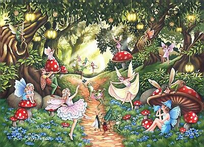 House Of Puzzles Big 500 Piece Jigsaw Puzzle - Faerie Dell - New & Sealed • 15.99£
