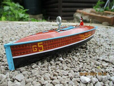 Collectable Tin Toy Clockwork Speed Boat • 7.50£