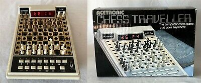 Vintage Working Acetronic CHESS TRAVELLER (No Batteries) MISSING BLACK PAWN • 14.95£