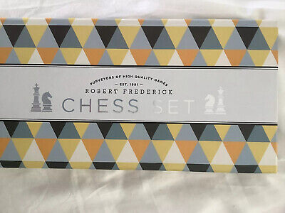 Robert Frederick Quality Chess Set Traditional Chess Board & Wooden Pieces BNIB • 11.95£