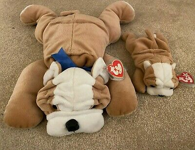 TY Beanie Babies: Bruiser Pillow Pal & Wrinkles Beanie Baby • 15£