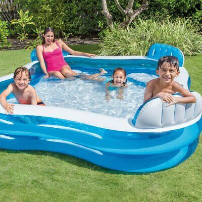 Intex Swim Centre Family Pool Childrens Inflatable Swimming Paddling Garden Pool • 64.95£