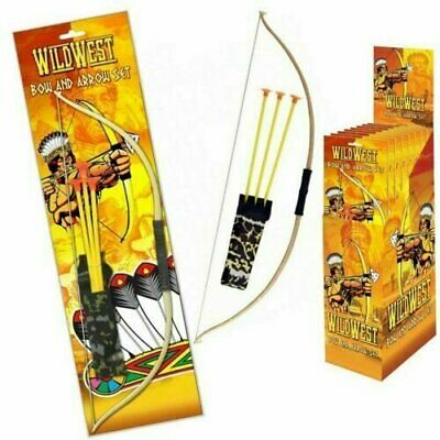 Kids Play Bow And Arrow Junior Toy Set Plastic Archery Game Cowboys Wild West  • 3.95£