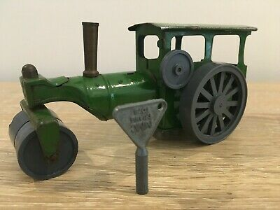 Vintage Clockwork Triang Minic Toys Tinplate Road Roller With Original Key • 25£