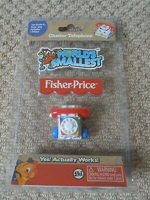 Fisher Price Chatter Telephone : Worlds Smallest Toys : Novelty Retro Toy Age 8+ • 5.99£