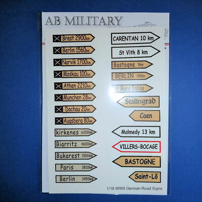 1/16 Scale WWII German Road Signs 1 • 7£
