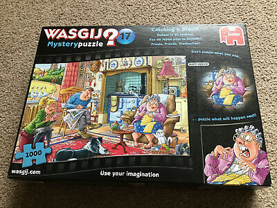 """Wasgij 1000pce Jigsaw Puzzle Mystery 17 """"Catching A Break"""" Complete • 3£"""